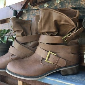 Faded Glory Ankle Boots Sz 9